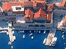 Old port Dubrovnik from the air